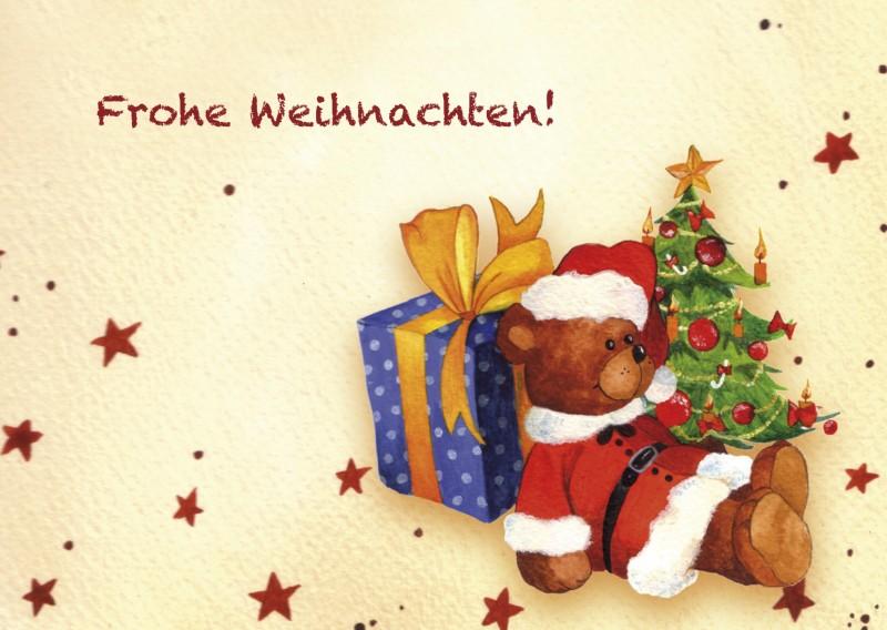 Frohe Weihnachten: Weihnachtsteddy