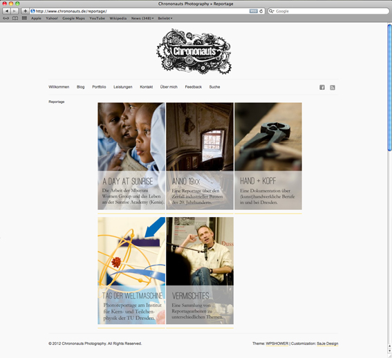 Chrononauts Photography: Die neue Website