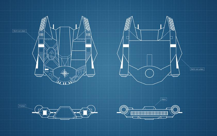 Science-Fiction Raumschiff für Janus Raiden