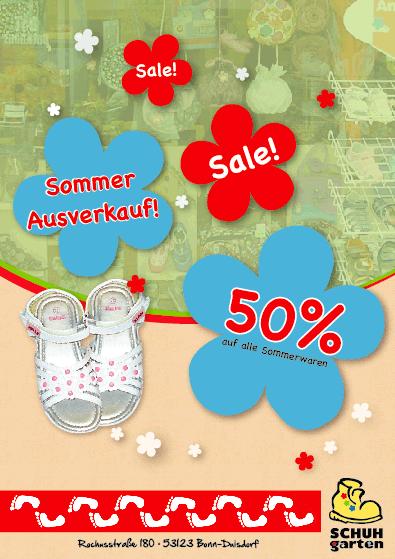 Schuhgarten: Plakat zum Sommer Sale 2012