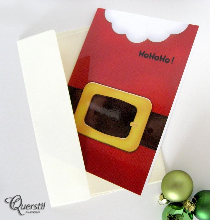 """Weihnachtskarte """"Santa"""" im Shop von Querstil"""