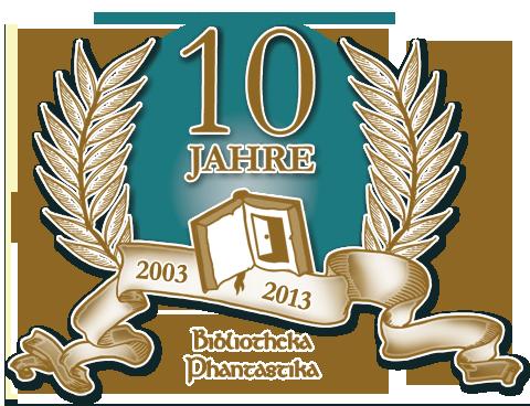 10 Jahre Bibliotheka Phantastika - Jubiläumsgrafik