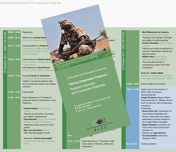 Faltblatt: Bonn International Center for Conversion