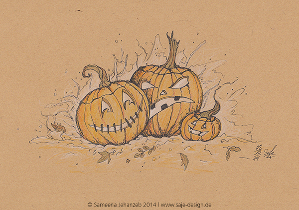 Querstil der Woche: Halloween-Kürbisse
