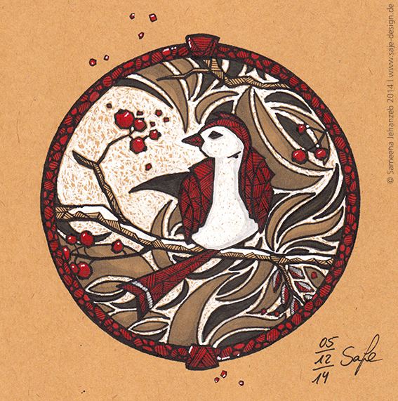 Querstil der Woche: Vogel in Buntglas