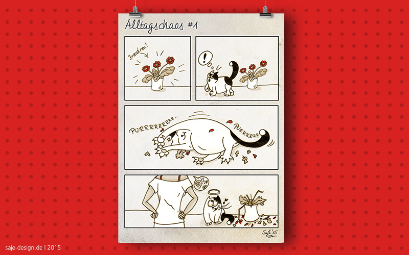 Alltagschaos: Cat vs. Plant