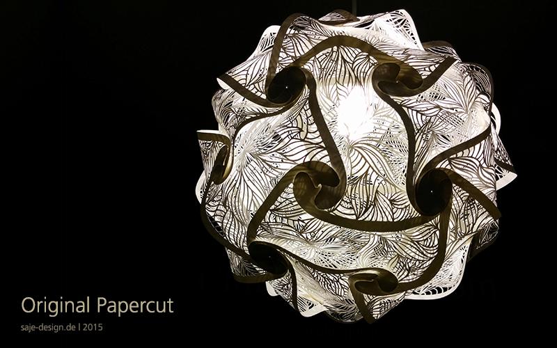 Original Papercut: Puzzle Lampe