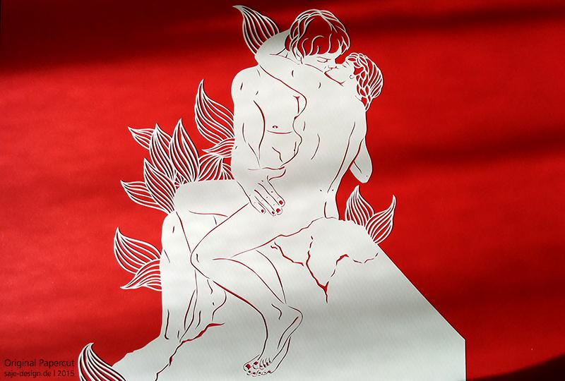 Papercut: Der Kuss - A. Rodin