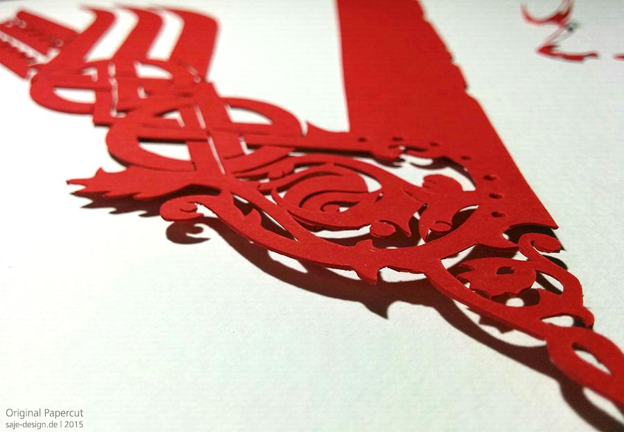 Original Papercut: Vikings Logo