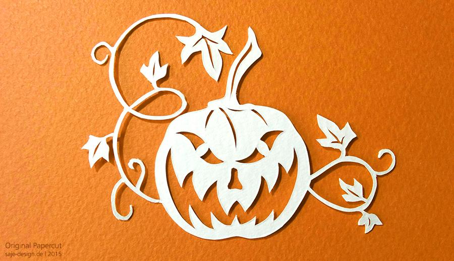 Scherenschnitt: Halloween Kürbis