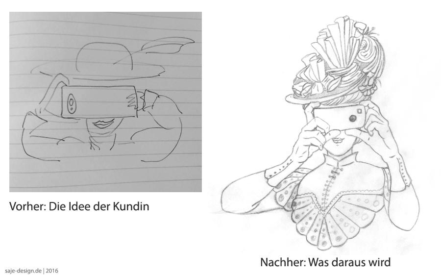 Was Illustratoren tun: Ein Vorher - Nachher Einblick