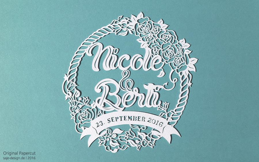 Hochzeitslogo Gewinnspiel: Nicole & Berti