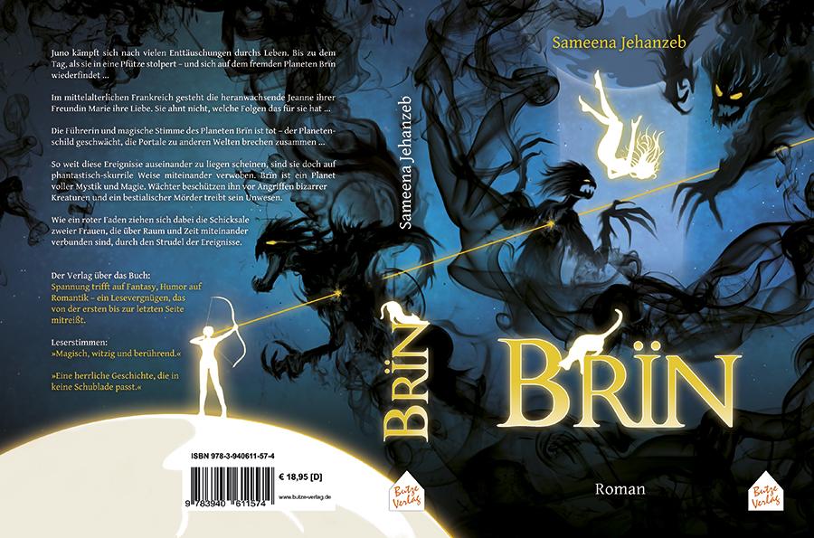 Buchcover Design: BRÏN von Sameena Jehanzeb
