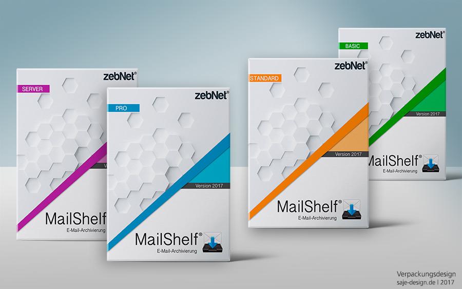 Verpackungsdesign: MailShelf für zebnet